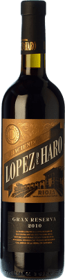 17,95 € Free Shipping | Red wine Classica Hacienda López de Haro Gran Reserva 2009 D.O.Ca. Rioja The Rioja Spain Tempranillo, Graciano Bottle 75 cl | Thousands of wine lovers trust us to get the best price guarantee, free shipping always and hassle-free shopping and returns.