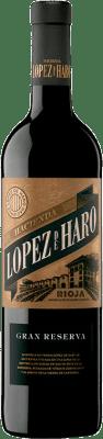 16,95 € Envoi gratuit | Vin rouge Classica Hacienda López de Haro Gran Reserva D.O.Ca. Rioja La Rioja Espagne Tempranillo, Graciano Bouteille 75 cl