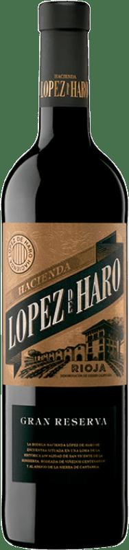 14,95 € Envío gratis | Vino tinto Classica Hacienda López de Haro Gran Reserva D.O.Ca. Rioja La Rioja España Tempranillo, Graciano Botella 75 cl