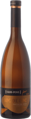 27,95 € Free Shipping | White wine Clos Pons Roc de Foc Crianza D.O. Costers del Segre Catalonia Spain Macabeo Bottle 75 cl
