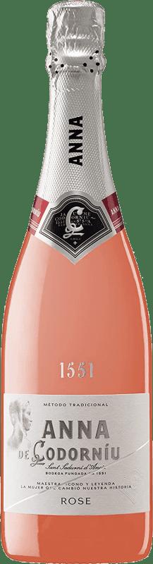9,95 € Free Shipping | Rosé sparkling Codorníu Anna de Codorníu Rosé Brut D.O. Cava Catalonia Spain Pinot Black, Chardonnay Bottle 75 cl
