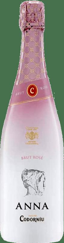 9,95 € Free Shipping | Rosé sparkling Codorníu Anna de Codorníu Rosé Sleever Print Brut D.O. Cava Catalonia Spain Pinot Black, Chardonnay Bottle 75 cl