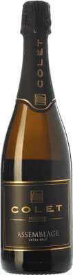 23,95 € Free Shipping | White sparkling Colet Assemblage Extra Brut Reserva D.O. Penedès Catalonia Spain Pinot Black, Chardonnay Bottle 75 cl. | Thousands of wine lovers trust us to get the best price guarantee, free shipping always and hassle-free shopping and returns.