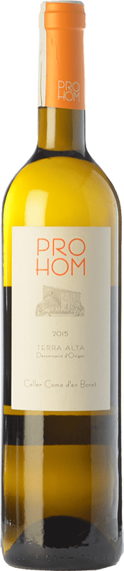 7,95 € Free Shipping | White wine Coma d'en Bonet Prohom Blanc D.O. Terra Alta Catalonia Spain Grenache White, Viognier Bottle 75 cl