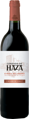 15,95 € Free Shipping | Red wine Condado de Haza Crianza D.O. Ribera del Duero Castilla y León Spain Tempranillo Bottle 75 cl