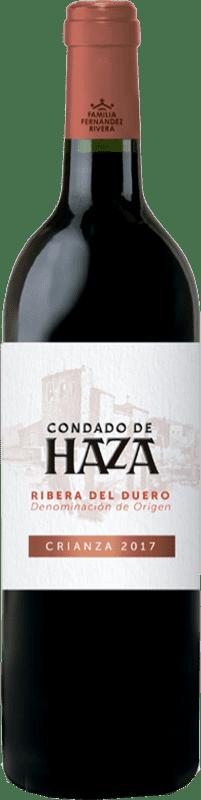 13,95 € Envío gratis | Vino tinto Condado de Haza Crianza D.O. Ribera del Duero Castilla y León España Tempranillo Botella 75 cl