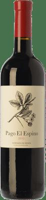 23,95 € Free Shipping | Red wine Los Aguilares Pago El Espino Crianza D.O. Sierras de Málaga Andalusia Spain Tempranillo, Merlot, Petit Verdot Bottle 75 cl