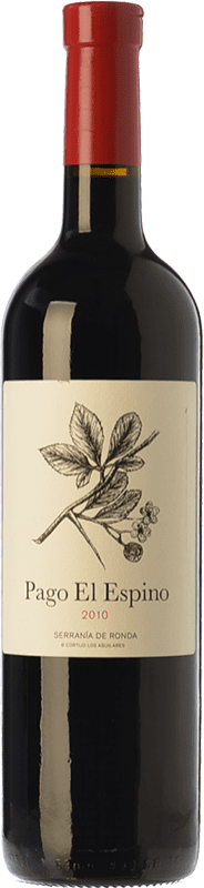 19,95 € Free Shipping | Red wine Los Aguilares Pago El Espino Crianza D.O. Sierras de Málaga Andalusia Spain Tempranillo, Merlot, Petit Verdot Bottle 75 cl