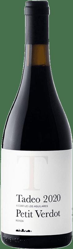 33,95 € Envío gratis | Vino tinto Los Aguilares Tadeo de los Aguilares Crianza D.O. Sierras de Málaga Andalucía España Syrah, Petit Verdot Botella 75 cl