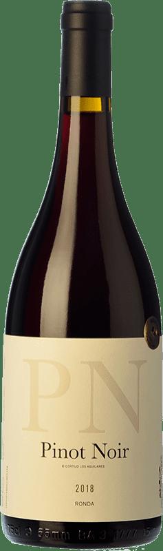 33,95 € Envío gratis | Vino tinto Los Aguilares Joven D.O. Sierras de Málaga Andalucía España Pinot Negro Botella 75 cl