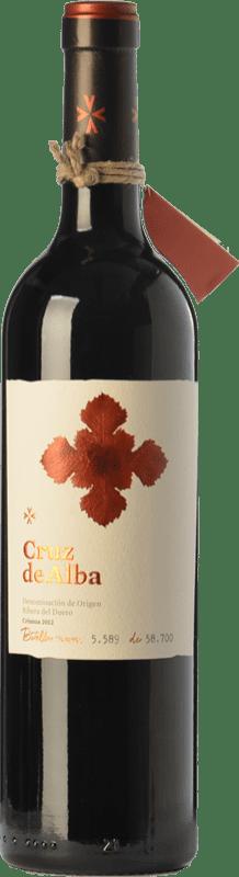 14,95 € Envío gratis | Vino tinto Cruz De Alba Crianza D.O. Ribera del Duero Castilla y León España Tempranillo Botella 75 cl