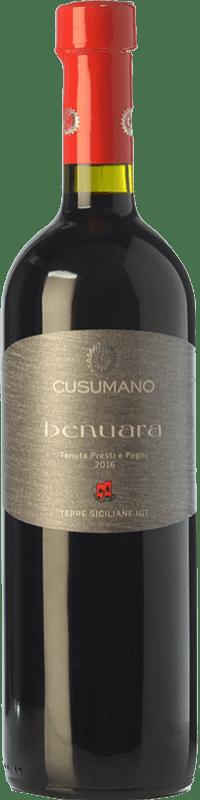 9,95 € Free Shipping | Red wine Cusumano Benuara I.G.T. Terre Siciliane Sicily Italy Syrah, Nero d'Avola Bottle 75 cl