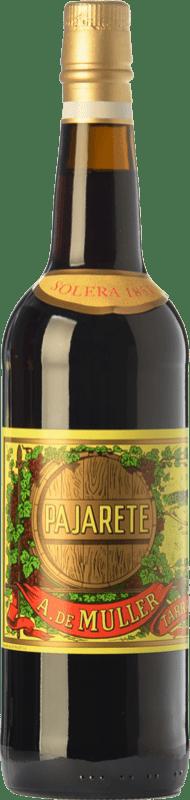 65,95 € Envío gratis | Vino dulce De Muller Pajarete Augusto Solera 1851 D.O. Tarragona Cataluña España Garnacha, Garnacha Blanca, Moscatel de Alejandría Botella 75 cl