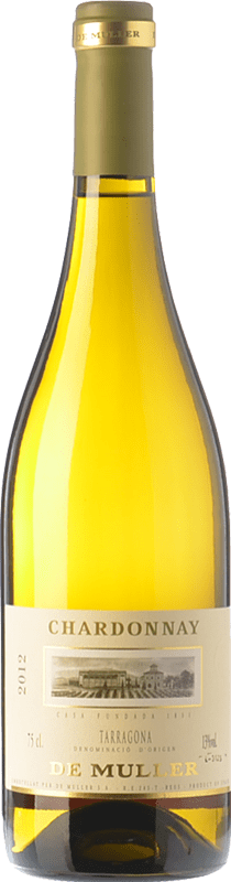 8,95 € Envío gratis | Vino blanco De Muller Crianza D.O. Tarragona Cataluña España Chardonnay Botella 75 cl