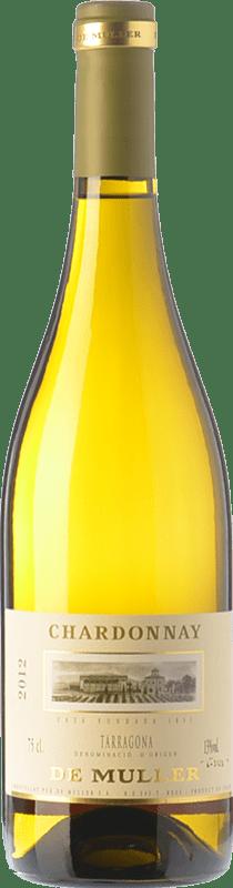8,95 € Free Shipping | White wine De Muller Crianza D.O. Tarragona Catalonia Spain Chardonnay Bottle 75 cl