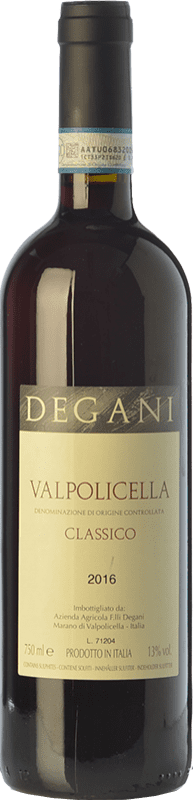 8,95 € Envío gratis | Vino tinto Degani Classico D.O.C. Valpolicella Veneto Italia Corvina, Rondinella, Corvinone Botella 75 cl