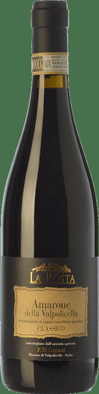 34,95 € Envío gratis | Vino tinto Degani La Rosta D.O.C.G. Amarone della Valpolicella Veneto Italia Corvina, Rondinella, Molinara, Oseleta Botella 75 cl