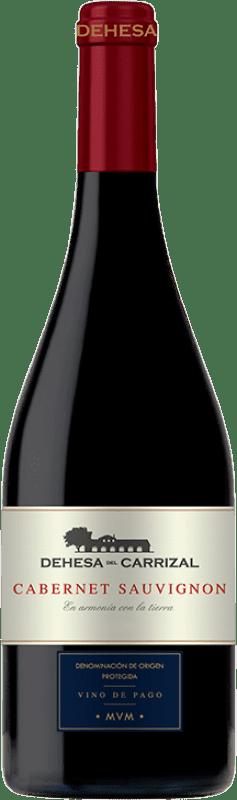 17,95 € Envío gratis | Vino tinto Dehesa del Carrizal Crianza D.O.P. Vino de Pago Dehesa del Carrizal Castilla la Mancha España Cabernet Sauvignon Botella 75 cl