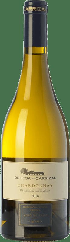 19,95 € Envío gratis | Vino blanco Dehesa del Carrizal Crianza D.O.P. Vino de Pago Dehesa del Carrizal Castilla la Mancha España Chardonnay Botella 75 cl