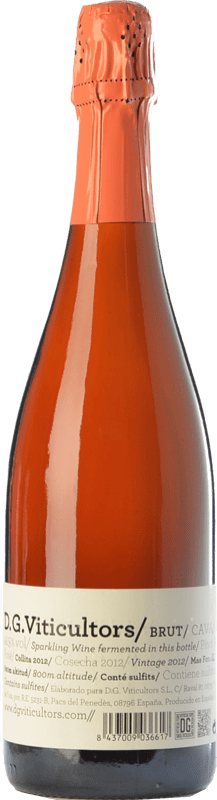 14,95 € Free Shipping | Rosé sparkling DG Rosé Brut Reserva D.O. Cava Catalonia Spain Pinot Black Bottle 75 cl