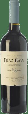 10,95 € Free Shipping | Red wine Díaz Bayo Nuestro Roble D.O. Ribera del Duero Castilla y León Spain Tempranillo Bottle 75 cl
