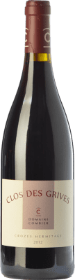 43,95 € Free Shipping | Red wine Domaine Combier Clos des Grives Rouge Crianza A.O.C. Crozes-Hermitage Rhône France Syrah Bottle 75 cl