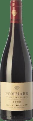 67,95 € Envío gratis | Vino tinto Domaine Henri Boillot Premier Cru Les Rugiens Crianza 2008 A.O.C. Pommard Borgoña Francia Pinot Negro Botella 75 cl