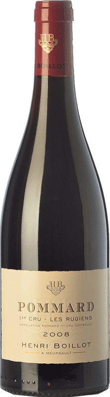 67,95 € Free Shipping | Red wine Domaine Henri Boillot Premier Cru Les Rugiens Crianza 2008 A.O.C. Pommard Burgundy France Pinot Black Bottle 75 cl