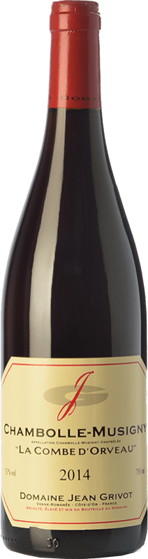 77,95 € Free Shipping | Red wine Domaine Jean Grivot La Combe d'Orveau Crianza A.O.C. Chambolle-Musigny Burgundy France Pinot Black Bottle 75 cl