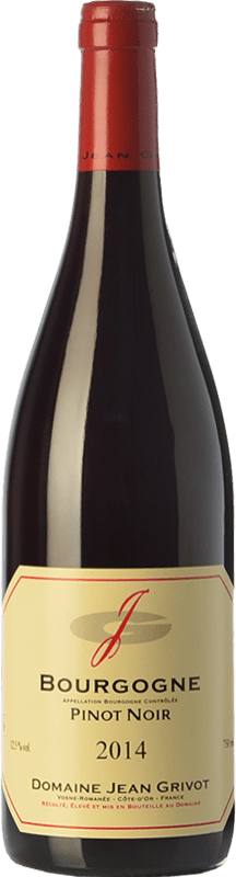 31,95 € Free Shipping | Red wine Domaine Jean Grivot Crianza A.O.C. Bourgogne Burgundy France Pinot Black Bottle 75 cl