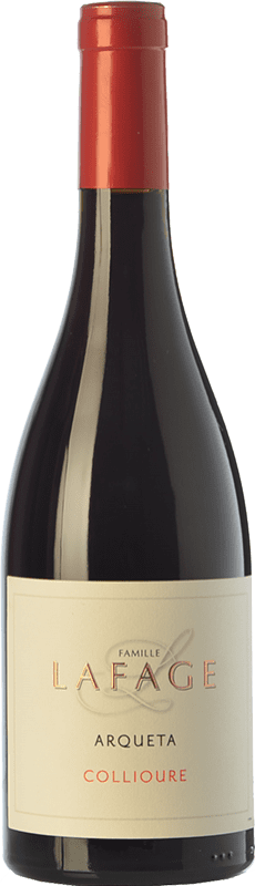 23,95 € Free Shipping | Red wine Domaine Lafage Arqueta Joven A.O.C. Collioure Languedoc-Roussillon France Syrah, Grenache, Carignan, Grenache Grey Bottle 75 cl