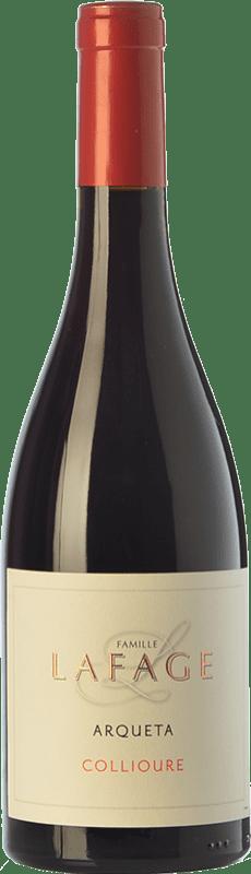 23,95 € Envío gratis | Vino tinto Domaine Lafage Arqueta Joven A.O.C. Collioure Languedoc-Roussillon Francia Syrah, Garnacha, Cariñena, Garnacha Gris Botella 75 cl