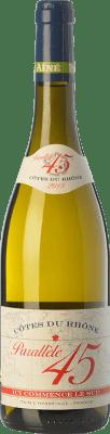 12,95 € Envío gratis | Vino blanco Jaboulet Aîné Parallèle 45 Blanc Crianza I.G.P. Vin de Pays Rhône Rhône Francia Garnacha Blanca, Viognier, Marsanne, Bourboulenc Botella 75 cl
