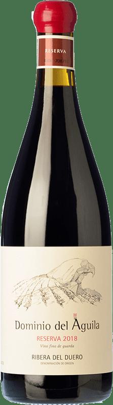 52,95 € Envío gratis | Vino tinto Dominio del Águila Reserva D.O. Ribera del Duero Castilla y León España Tempranillo, Garnacha, Bobal, Albillo Botella 75 cl