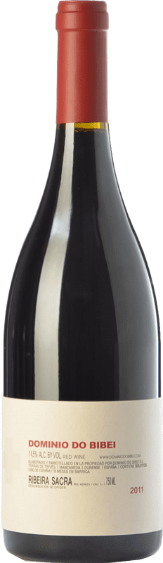 51,95 € Free Shipping | Red wine Dominio do Bibei Caiño Crianza D.O. Ribeira Sacra Galicia Spain Caíño Black Bottle 75 cl