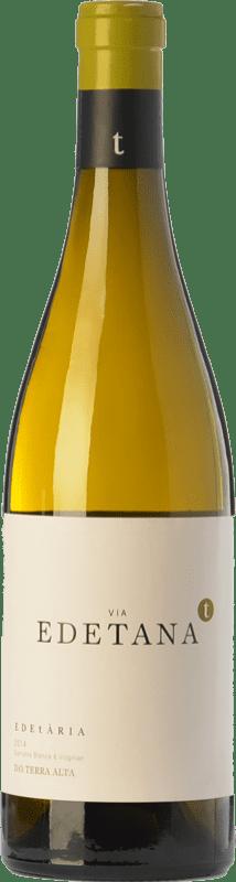 12,95 € Envío gratis | Vino blanco Edetària Via Edetana Blanc Crianza D.O. Terra Alta Cataluña España Garnacha Blanca, Viognier Botella 75 cl
