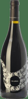 11,95 € Free Shipping | Red wine El Grillo y la Luna 12 Lunas Joven D.O. Somontano Aragon Spain Tempranillo, Merlot, Cabernet Sauvignon Bottle 75 cl