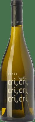 44,95 € Free Shipping | White wine El Grillo y la Luna El Canto del Grillo Crianza D.O. Somontano Aragon Spain Chardonnay Bottle 75 cl