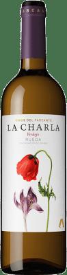 8,95 € 免费送货 | 白酒 El Paseante La Charla D.O. Rueda 卡斯蒂利亚莱昂 西班牙 Verdejo 瓶子 75 cl | 成千上万的葡萄酒爱好者信赖我们,保证最优惠的价格,免费送货,购买和退货,没有复杂性.
