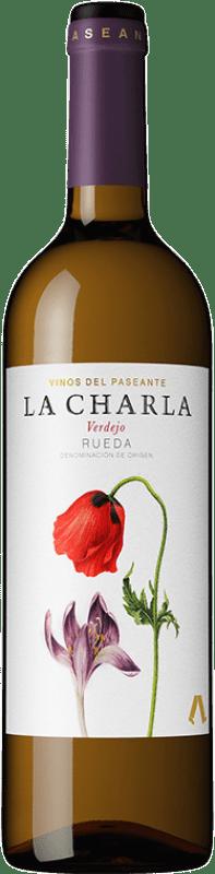 8,95 € Envio grátis | Vinho branco El Paseante La Charla D.O. Rueda Castela e Leão Espanha Verdejo Garrafa 75 cl