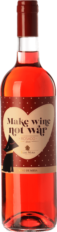 6,95 € Free Shipping | Rosé wine Elías Mora Make Wine Not War Spain Grenache, Tinta de Toro, Albillo Bottle 75 cl