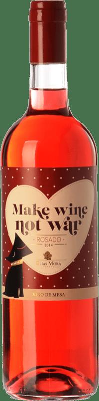 6,95 € Envío gratis | Vino rosado Elías Mora Make Wine Not War España Garnacha, Tinta de Toro, Albillo Botella 75 cl