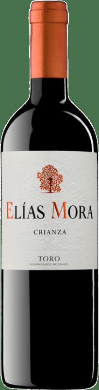 12,95 € Envío gratis | Vino tinto Elías Mora Crianza D.O. Toro Castilla y León España Tinta de Toro Botella 75 cl