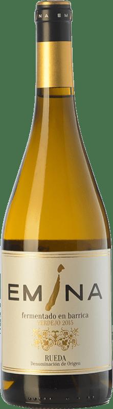 19,95 € Envío gratis | Vino blanco Emina Fermentado en Barrica Crianza D.O. Rueda Castilla y León España Verdejo Botella 75 cl