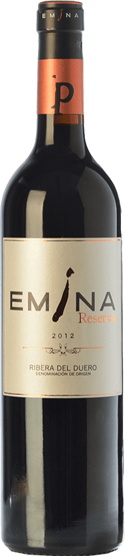 27,95 € Envío gratis | Vino tinto Emina Reserva D.O. Ribera del Duero Castilla y León España Tempranillo Botella 75 cl