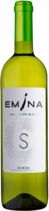 6,95 € Envío gratis | Vino blanco Emina D.O. Rueda Castilla y León España Sauvignon Blanca Botella 75 cl