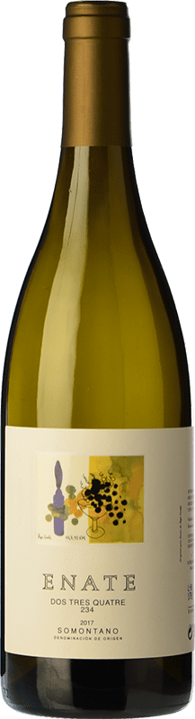 19,95 € Envío gratis | Vino blanco Enate 234 D.O. Somontano Aragón España Chardonnay Botella Mágnum 1,5 L