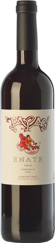 5,95 € Free Shipping | Red wine Enate Tapas Joven D.O. Somontano Aragon Spain Tempranillo, Merlot, Cabernet Sauvignon Bottle 75 cl