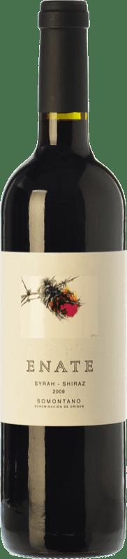 21,95 € Envío gratis | Vino tinto Enate Syrah-Shiraz Crianza D.O. Somontano Aragón España Syrah Botella 75 cl