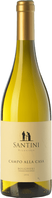 17,95 € Free Shipping | White wine Enrico Santini Campo alla Casa D.O.C. Bolgheri Tuscany Italy Sauvignon White, Vermentino Bottle 75 cl